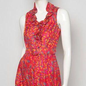 Rachel Zoe Jacqueline flounce ruffle dress size 4